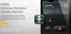 Olympus ODDS App for SmartPhone digital dictation