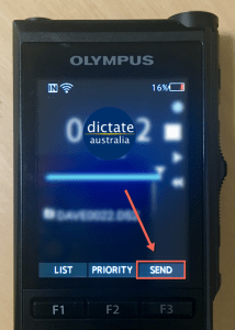 Dictate Australia Olympus DS-9500 Send Dictation by Email