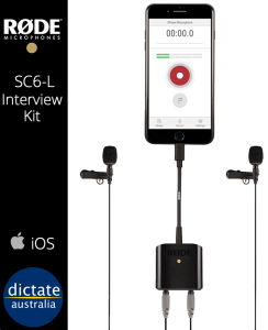 iOS Interview Microphone Kit SmartLav+ Rode eloger