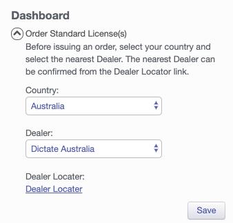 Olympus Dictation Portal ODDS Order Standard Licence Select Dealer