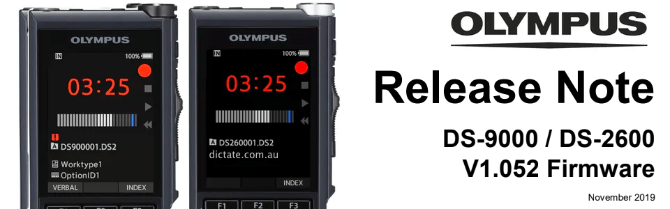 Free Download Olympus Firmware Update DS-9000 DS-2600 v1.052
