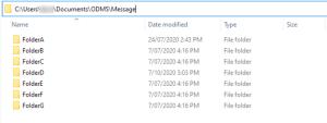 Default Olympus ODMS Dictation Module Folders local drive