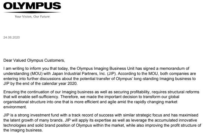 Japan Industrial Partners takes over audio division from Olympus Imaging