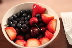 fruit filled bowl picture