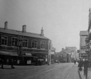 Older GWR Railway station viewed from upper High Street