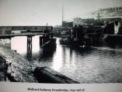 North Dock Railway bridge LMS railway Swansea