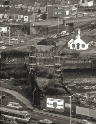 Swansea and the original location of the Norweigan Church at Bridge Street