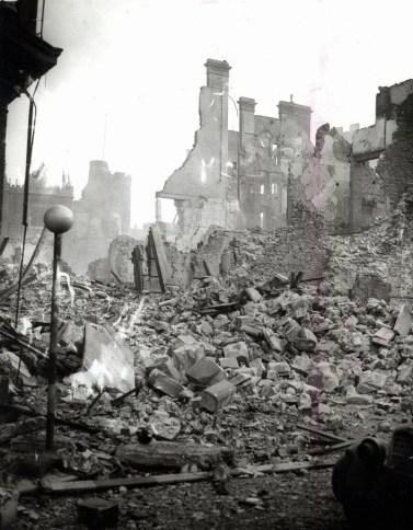 The ruins of Ben Evans Store Castle Street