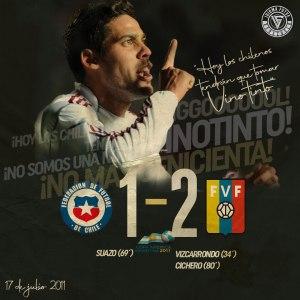 Victoria de la Vinotinto 2-1 sobre Chile