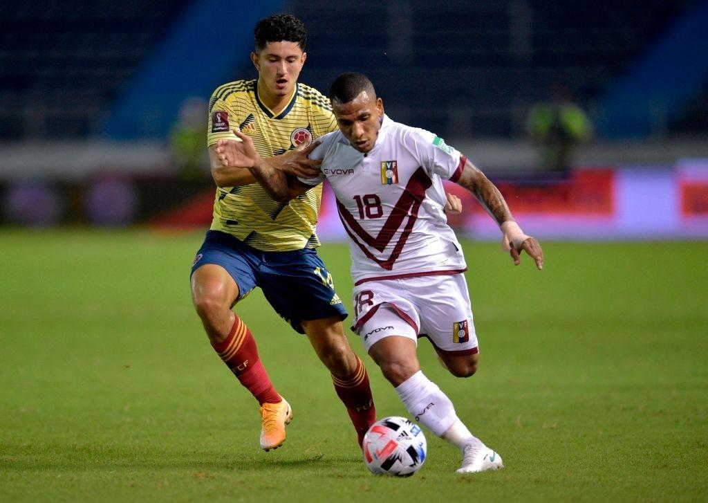 Rómulo Otero, una de las alternativas de Peseiro en la segunda mitad contra Colombia.