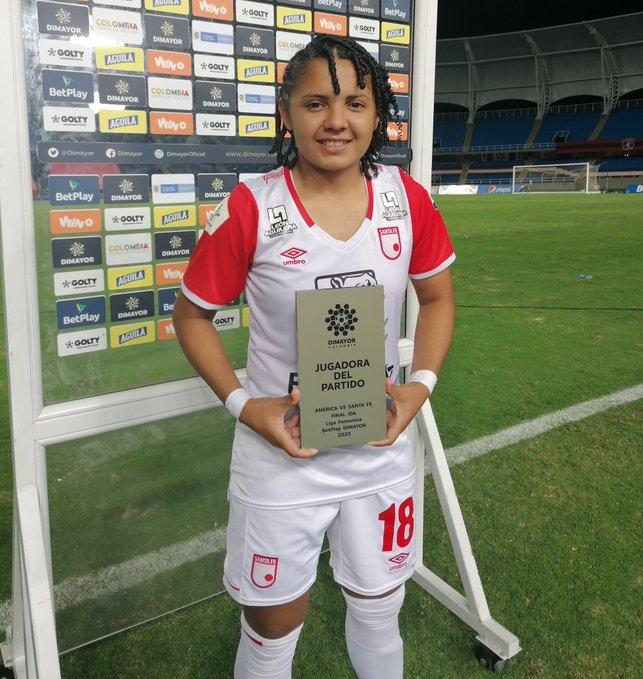 Ysaura Viso, MVP de la ida de la final de Colombia.