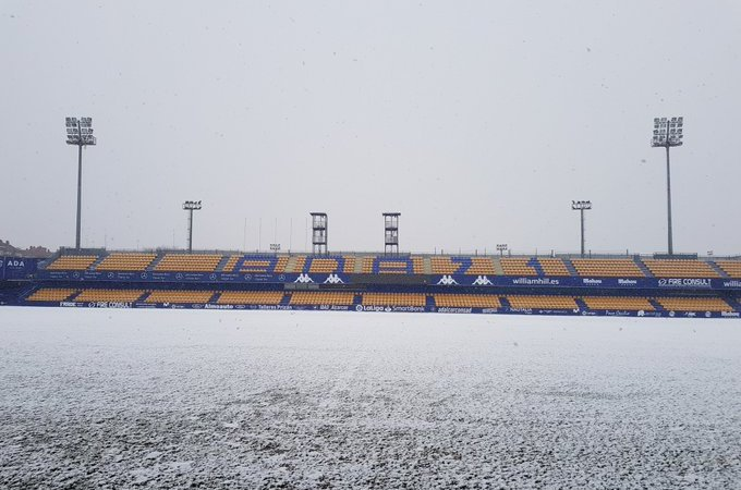 La tormenda de nieve Filomena evitó el inicio de varios partidos en España.