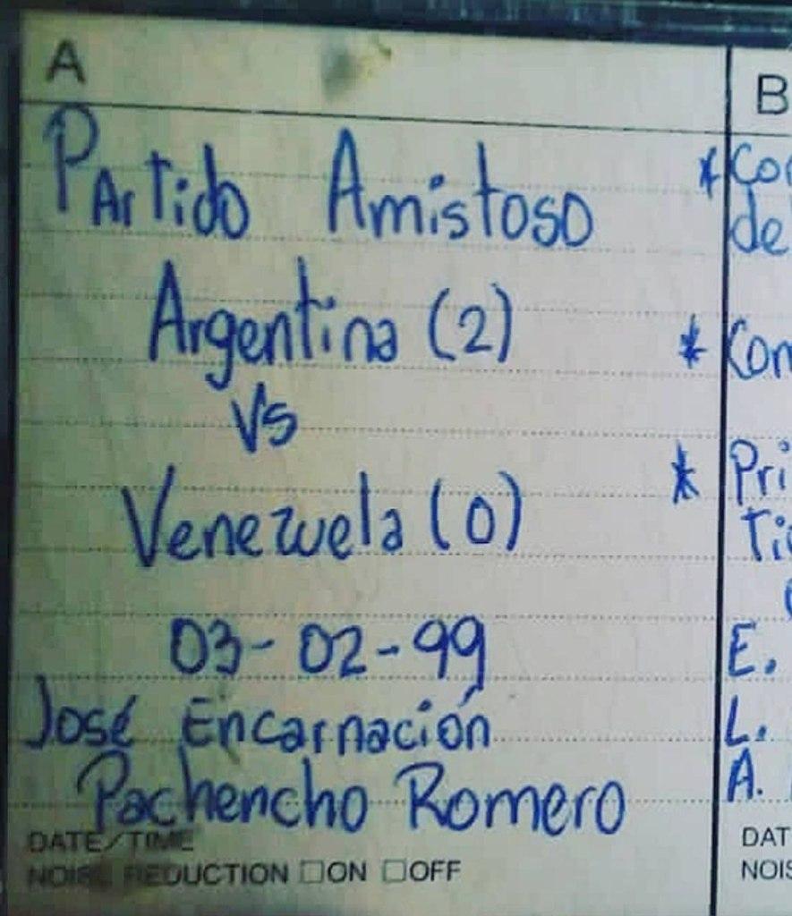 Amistoso Venezuela Argentina