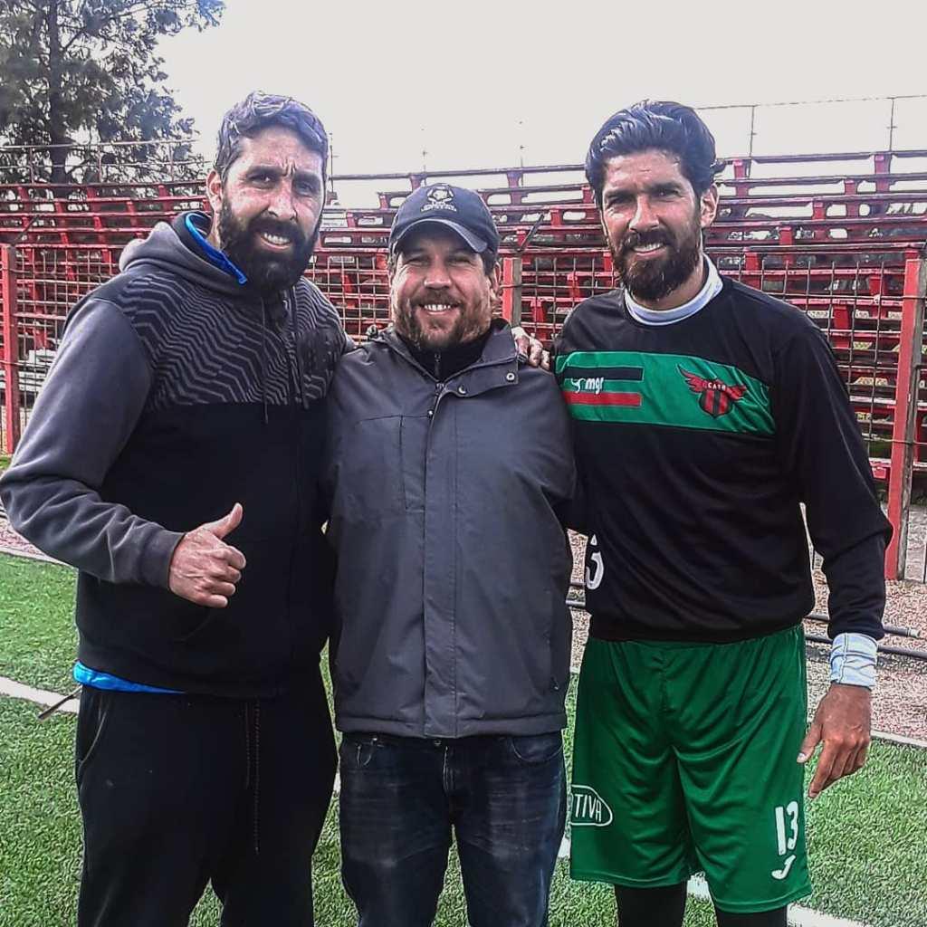 Javier Minniti con Alejandro Cichero y Sebastián Abreu