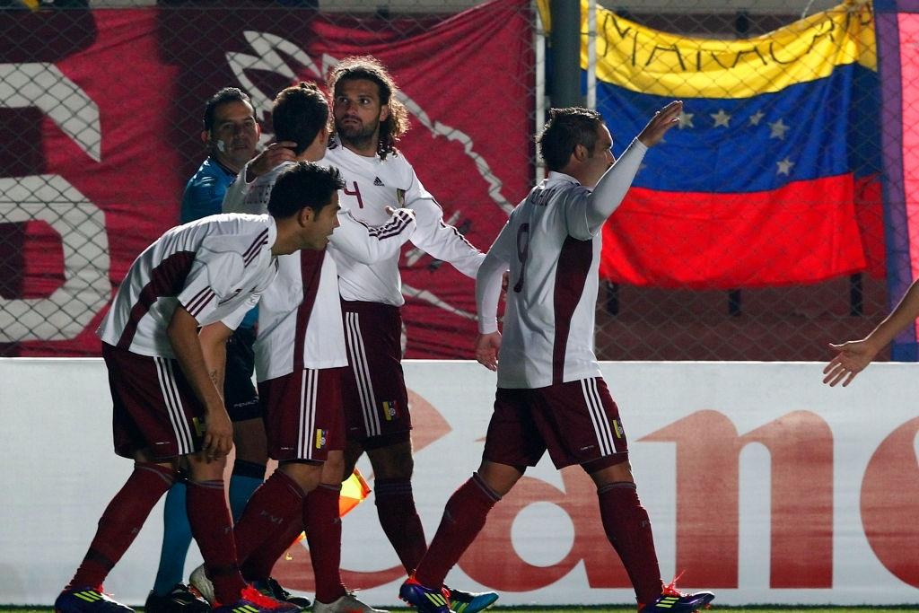 Vizcarrondo tras su gol contra Chile en la Copa América 2011