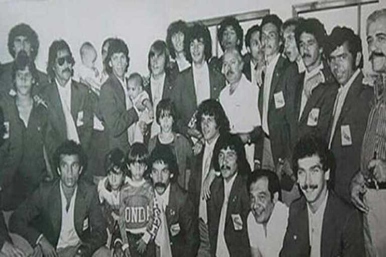 La delegación venezolana en Moscú 1980, con el profe Manuel Plasencia al frente
