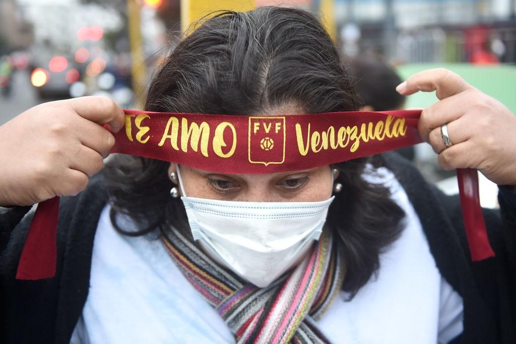 Fanática venezolana en Lima