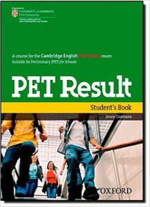 portada de libro pet result para examen cambridge