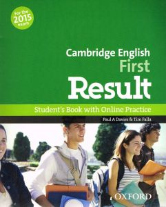 portada de libro cambridge english first result