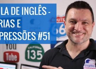 5 Expressões Comuns em Inglês - Aula com o professor Paulo Barros