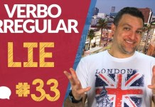 verbo irregular lie