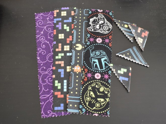 Fabric Bookmarks and Corners Finished