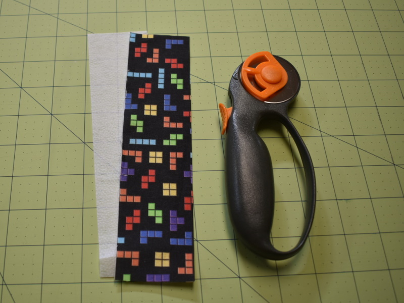 Fabric Bookmarks Step 1