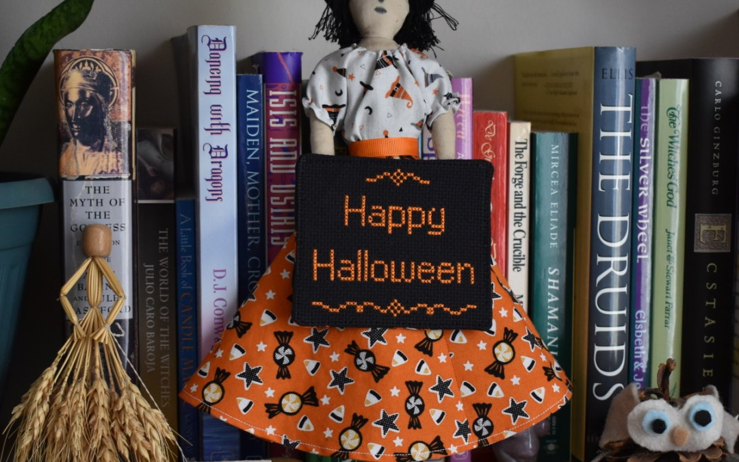 Dressing Millicent, the Halloween Witch