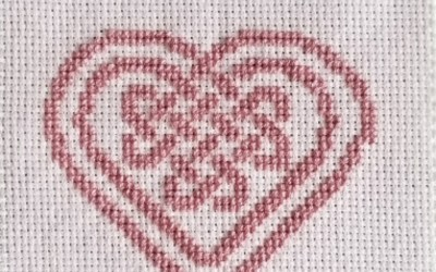 Witch Craft: Celtic Knotwork Heart Cross Stitch Design