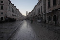 Stradun Street at dawn