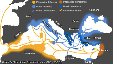 Phoenicia and it's trade routes