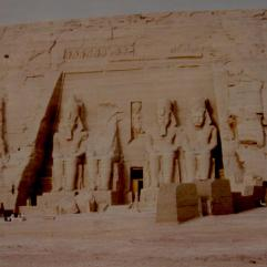 The four great statues of Ramses II