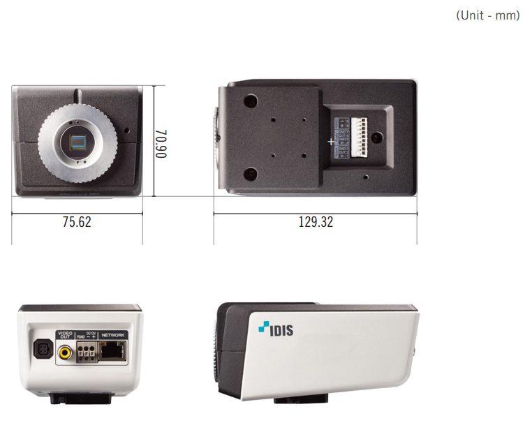 DC-B box camera afmetingen