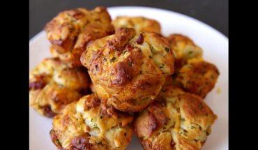 Pull-Apart Muffins με τσένταρ κα μπέικον!