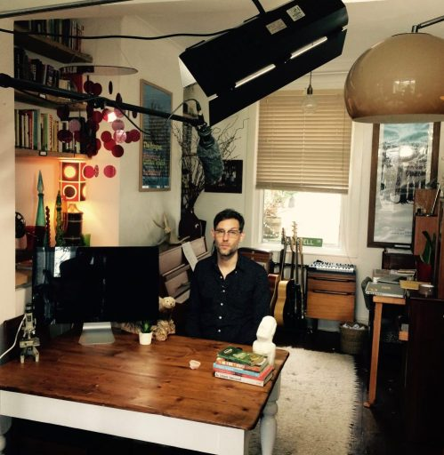 David Bramwell on set in his home in Brighton