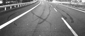 skidmarks on the highway