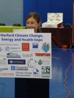 Molly speaks about Clean AIr at the Harford County Climate Expo, Edgewood Boys and Girls Club