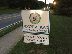 Hartford County Climate Action has adopted a stretch of Moore's Mill Road.