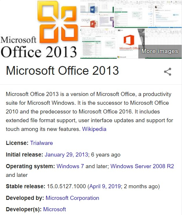 Microsoft Office 2013 Free Download Full Version for Windows 10