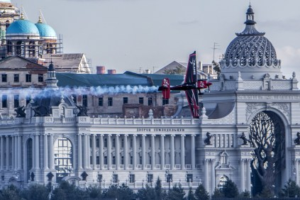 Ben Murphy of Great Britain performs during qualifying day at the fifth round of the Red Bull Air Race World Championship in Kazan, Russia on August 25, 2018. © redbullcontentpool