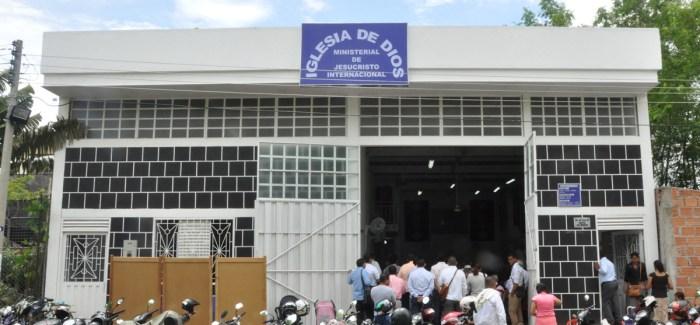 Fotos de la inauguración del segundo templo del municipio de Flandes, Tolima (Colombia) Barrio Las Quintas