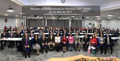 Photo of the Preachers' Meeting in Plainfield, NJ (USA) – April 21, 2017
