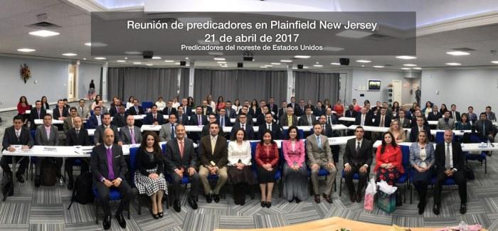 Foto de la reunión de predicadores en Plainfield New Jersey, 21 de abril de 2017