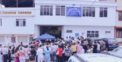 Fotos de la inauguración de la Iglesia en La Floresta, Ibagué (Colombia)