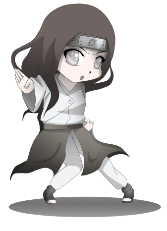 Hyūga neji cute face fan made