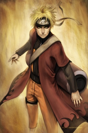Gambar Cat Air Naruto Sage Mode