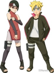 Boruto And Sarada Team Mate