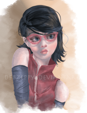 Sarada again by dfbzeppy d8urhnt