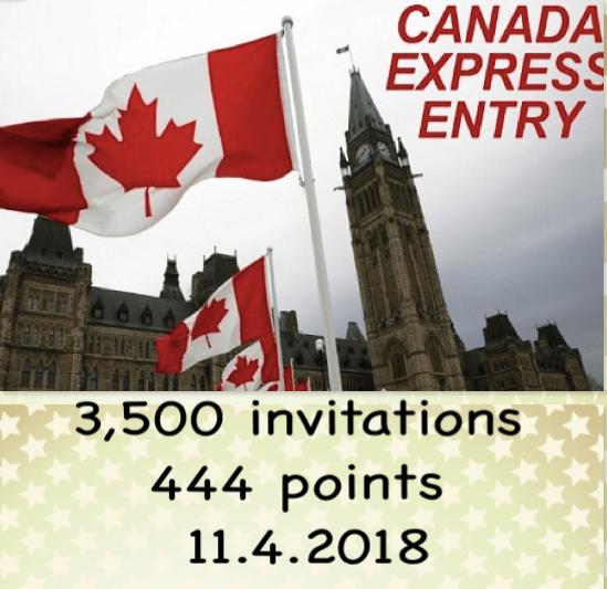 加拿大快速移民通道發出3,500 永居邀請,最低分數為444 分