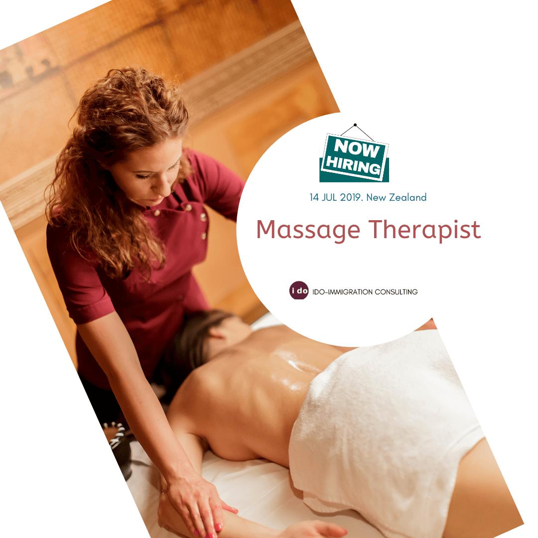 招聘:紐西蘭 Massage Therapist